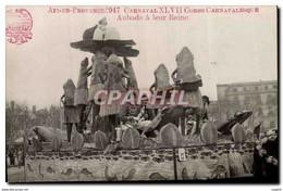 CPA Aix En Provence 1947 Carnaval XLVII Aubade A La Reine Grenouille Crapaud - Non Classés