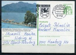 "Germany, Allemagne 1986 Bildganzsache ""Kochel Am See ""Mi.Nr.P130,i10/145 Mit MWST""Baesweiler ""1 GS Used - Postales Ilustrados - Usados"