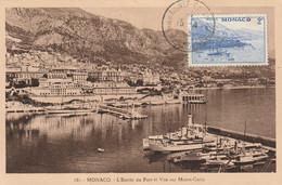 L'Enrrée Du Port Et Vue Sur Monte-Carlo - Cartoline Maximum