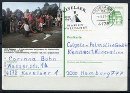 """Germany, Allemagne 1981 Bildganzsache """"Geldern,Straßenmaler """"Mi.Nr.P130,i14/213 Mit MWST""""Kevelaer 1 """"1 GS Used - Postales Ilustrados - Usados"""