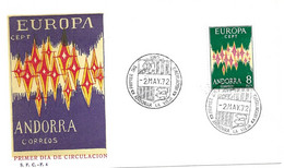 Spain FDC 1972 EUROPA Cat 80 Euros For About 10% - Cartas