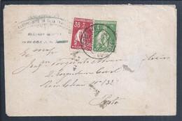 Carta Com Obliteração De Guimarães A 1925. Stamps Ceres 4 E 36c. Letter With Obliteration Of Guimarães In 1925. - Covers & Documents