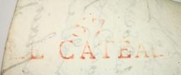 Lettre 1814 - 57 LE CATEAU Pour BEAUVAIS - 1801-1848: Précurseurs XIX
