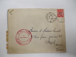 1953 , 19 Eme Regiment Du Genie Hussein Dey Lettre Franchise Postale - 1921-1960: Periodo Moderno