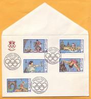 1992 Moldova Moldavie Moldau;  Private FDC Olympic Games. Barcelona 92. - Ete 1992: Barcelone