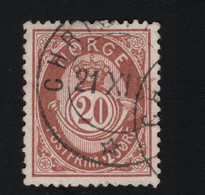 1884 Freimarke Mi NO 40 Sn NO 43 Yt NO 42 AFA NO 39 Nor NO 39 Y - Used Stamps