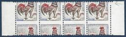 France 1962 Coq N°1331** Bde 4 De Carnets Non Confectionnés Variétés De Piquage Très à Cheval+ 1saut Dent ! Signé Calves - 1962-65 Coq De Decaris