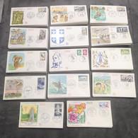 FRANCE FDC Lot 14 Enveloppes Année 1969 1er Jour - Collection Timbre Poste - 1960-1969