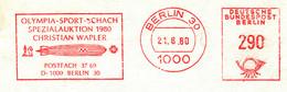 Freistempel Kleiner Ausschnitt 252 Olympia Sport Schach Zeppelin - Affrancature Meccaniche Rosse (EMA)