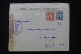 SUÈDE - Enveloppe Commerciale De Stockholm Pour La France En 1915 Avec Contrôle Postal De Dieppe - L 89831 - Briefe U. Dokumente