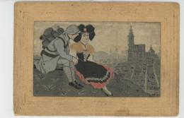 GUERRE 1914-18 - Jolie Carte Fantaisie Tissée Avec De La Soie POILU Et ALSACIENNE - Guerra 1914-18