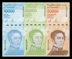 Venezuela Set 10000 20000 50000 Bolívares 2019 (2020) Pick New(2) SC UNC - Venezuela
