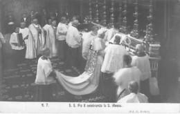 RELIGION CATHOLIQUE ( VATICAN Vaticano - PAPE Papa )  S.S. Pio X Celebrando La S. Messa - CPSM Photo Format CPA - Papas