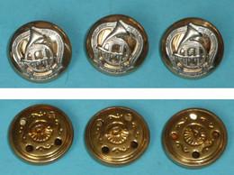 Rare Lot 2 Boutons Neufs, Cinquantenaire Du Musée International De La Chasse De GIEN, Cor De Chasse 1952-2002 - Botones