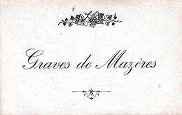 Etiquette  Graves De Mazères - Bordeaux
