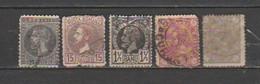 ROMANIA;Scott # 60;73;75;94;105.Catalog Value $13.25 - Gebraucht