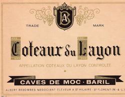 Etiquette Coteaux Du Layon  CAVES DE MOC BARIL - Sin Clasificación