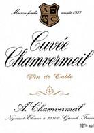 Etiquette Cuvée Chamvermeil - Sin Clasificación