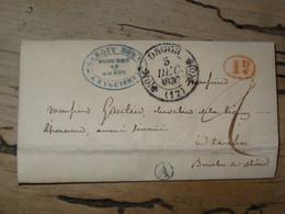 Lettre Avec Cachet De ORGON, Origine Rurale A De EYGUIERES, Décime Rural, 1837   ...............210215-Class22 - 1801-1848: Précurseurs XIX