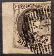Medaillon 6 Gestempeld P94 PERUWELZ MET VELRAND - 1851-1857 Medallions (6/8)