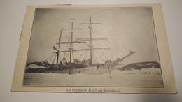 CPA Originale Expédition Du Cdt Charcot  Pourquoi Pas Antarctique Groenland Island - Missions