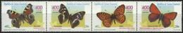 EQUATORIAL GUINEA, 2000, FAUNA, INSECTS, BUTTERFLIES, YV#392-95, MNH - Equatorial Guinea