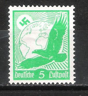 Reich Poste Aérienne N° 43 Neuf ** Gommage Horizontal Michel 529y - Aéreo