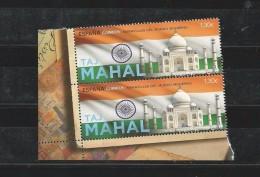 Spain 2016 - Wonders Of The World Taj Mahal Pair Mnh - 2011-... Nuevos & Fijasellos