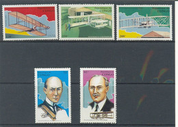 CONGO 1993 AVIONES 5 SELLOS - Aviones