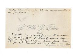 AGUESSAC (AVEYRON) - ABBE C. FABRE CURE - CARTE DE VISITE CDV - Tarjetas De Visita