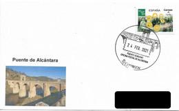 SPAIN. POSTMARK. ROMAN BRIDGE OF ALCÁNTARA. 2021 - Non Classés