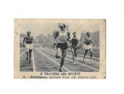 """LA PETITE BRETONNE SERIE """"LES SPORTS"""" - ATHLETISME ARRIVEE D UN 100 METRES - IMAGE 6.5*4 CM - Atletica"""