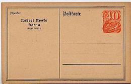 DR PP52/B1 Privat-Postkarte NOSKE BORNA 1922  Kat. 12,00 € - Stamped Stationery