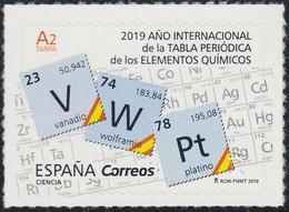 ESPAGNE SPANIEN SPAIN ESPAÑA  2019 SCIENCE. INT. YEAR PERIODIC TABLE OF CHEMICAL ELEMENTS MNH ED 5287 YT 5023 MI 5318 - 2011-... Nuevos & Fijasellos