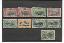 Belgisch Kongo  ETAT INDEPENDANT Assortiment - 1884-1894 Vorläufer & Leopold II.