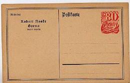 DR PP53/B1 Privat-Postkarte NOSKE, BORNA 1921  Kat. 14,00 € - Enteros Postales