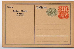 DR PP55/B1 Privat-Postkarte NOSKE, BORNA 1922  Kat. 12,00 € - Stamped Stationery