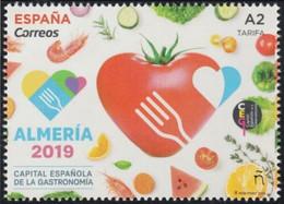 ESPAGNE SPANIEN SPAIN ESPAÑA  2019 ALMERÍA GASTRONOMY SPANISH CAPITAL MNH ED 5289 YT 5025 MI 5320 - 2011-... Nuevos & Fijasellos
