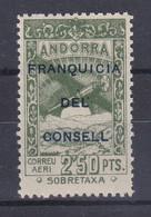 NE33 SELLO DE ANDORRA DE PAISAJES DEL AÑO 1932 ** FRANQUICIA DEL CONSELL (NUEVO SIN CHARNELA) - Ungebraucht