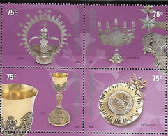Argentina 2006, Religious Handicrafts In Silver, MNH Stamps Set - Neufs