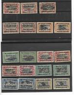 Ruanda-Urundi Assortiment Bezetting - 1916-22: Ungebraucht
