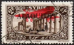 Alaouites Obl. N° PA  9 - Site Ou Monument - Palmire 2pi Sépia - Surcharge Avion - Oblitérés