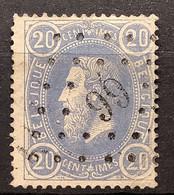 Leopold II OBP31 Gestempeld LP66 BURDINE - 1869-1883 Leopold II