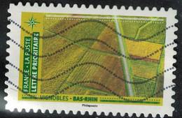 France 2021 Oblitéré Used Mosaïque De Paysages Vignobles Bas Rhin - Oblitérés