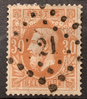 Leopold II OBP33 Gestempeld LP21 AUDENAERDE - 1869-1883 Leopold II