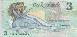 COOK ISLANDS 3 Dollars 1992 P-6 UNC */* - Cook Islands