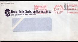 Argentina - 1986 - Lettre - Cachet Spécial - Affranchissement Mécanique - Banco Ciudad De Bs. As. - A1RR2 - Cartas
