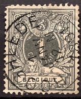 Liggende Leeuw OBP 42 Gestempeld EC HOOGHLEDE - 1869-1888 León Acostado