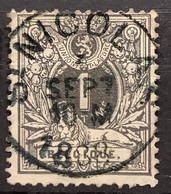 Liggende Leeuw OBP 42 Gestempeld EC ST NICOLAS - 1869-1888 Lying Lion