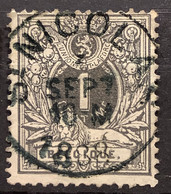 Liggende Leeuw OBP 42 Gestempeld EC ST NICOLAS - 1869-1888 León Acostado